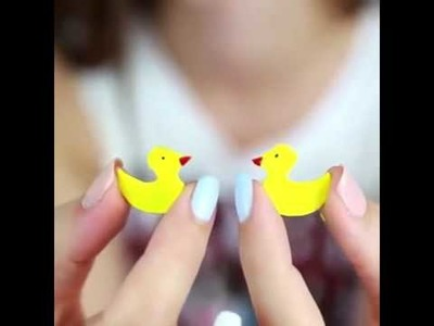 DIY liquid notebook cover with ducks [5 Minute Crafts]