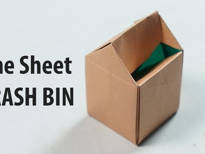 Easy Origami Trash Bin (One sheet of paper) (Henry Phạm)