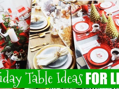 How to Decorate Your Christmas Table for Less!
