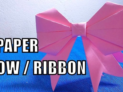 How to fold a paper Bow.Ribbon - Easy Origami ✅