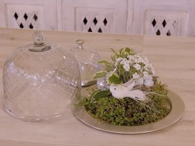 How to make a Glass Dome and Succulent Christmas Flower Design
