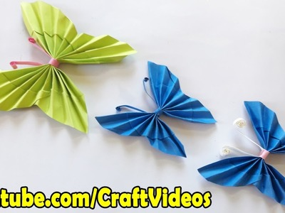 How to make paper butterfly | Easy origami butterfly for beginners