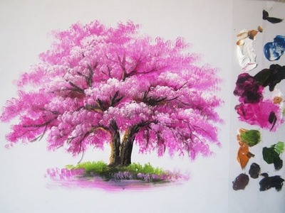 How to paint a tree in Acrylic lesson 6