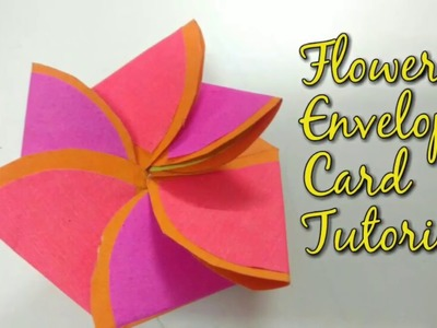 Paper Flower Envelope Card Tutorial For Scrapbook | How To | CraftLas