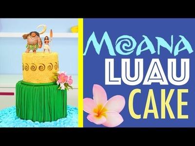 Princess MOANA Cake - How to make a Hawaiian Luau Beach Cake | Disney Princesses
