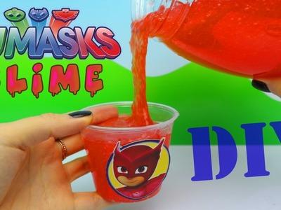 Best PJ Masks Owlette Slime Pot DIY Squishy Goo Play