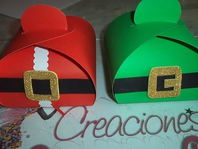 Cajita Dulcero Navidad -  How to make a surprise box for christmas DIY