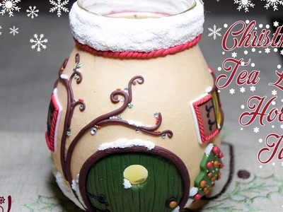 Christmas Tea Light Holder Jar Tutorial-Big Collaboration Video-Polymer Clay