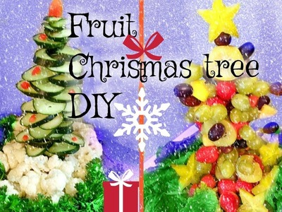 CHRISTMAS TREE FRUIT DIY TABLE DECORATION IDEA