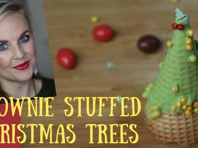 DIY Christmas Treats. Easy  Brownie Christmas Trees