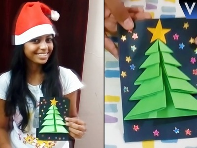 DIY CHRISTMAS TREE CARD | How to Make Greeting Cards