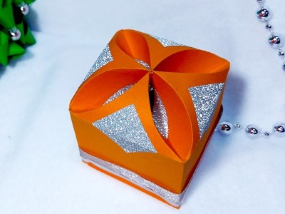 DIY Gift box - NO templates!!!!! ANY SIZE !  Easy and rich! Ideas for Christmas