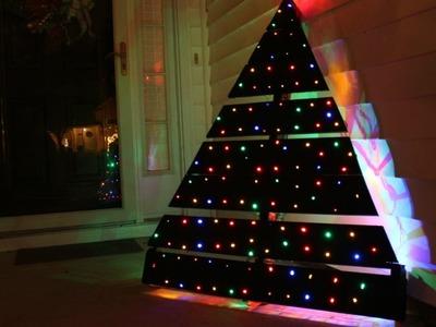 DIY PALLET CHRISTMAS TREE LED LIGHTS