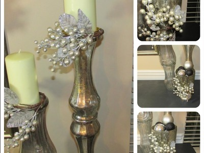Holiday DIY Quicke  Decrotive candle ring, and vase embellishments