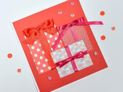 How to Make - Easy Christmas Card - Step by Step DIY | Kartka Świąteczna