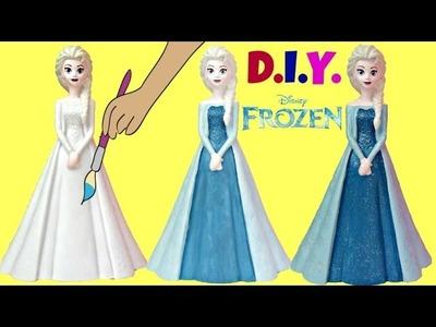 D.I.Y. Paint Your Own ELSA Disney Frozen Bank, Color Fun Craft Kids Doll Anna Disney Princess. TUYC