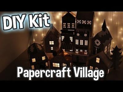 DCWV DIY Project Stack Shimmer Noel Village Papercraft Kit Easy Holiday Craft