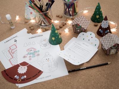 DIY : Fun templates for children's craft ideas by Søstrene Grene