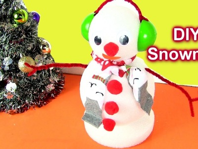 DIY How to Craft Snowman Christmas Decoration (Do You Want To Build A Snowman?) by Rainbow Collector