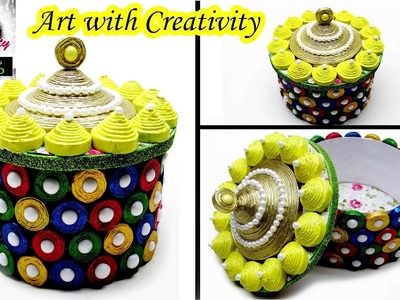 DIY How to Make a Basket from Recycled Newspaper | Handmade Basket | Art with Creativity 103