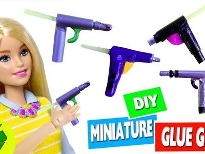 DIY |  MINIATURE REALISTIC HOT GLUE GUN - Easy Doll Craft