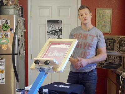 DIY Screen Printing Tutorial - How To Print Wilflex Plastisol White Ink