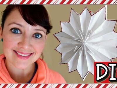 HOW TO MAKE A GIANT PAPER SNOWFLAKE | EASY DIY!
