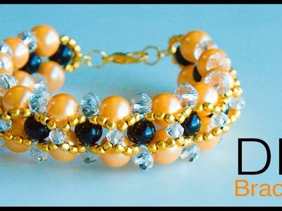How to make pearl bracelet | DIY bracelet | making easy pearl bracelet | pearl jewelry