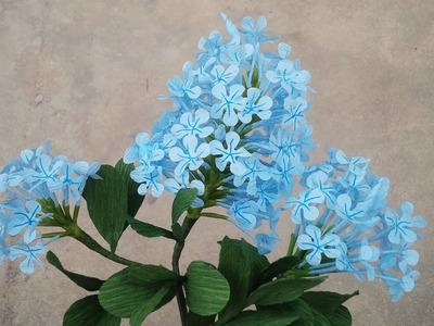 How To Make Plumbago Auriculata Flower From Crepe Paper - Craft Tutorial