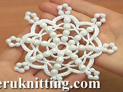 Crochet Beaded Snowflake How to Tutorial 36
