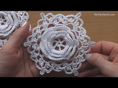 CROCHET Flower Motif Hexagon Pattern Tutorial Part 2 #2