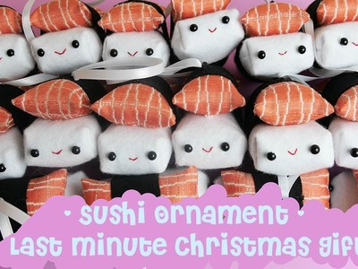 Cute Miniature Sushi Christmas Ornament DIY - Last Minute Christmas Gift Idea