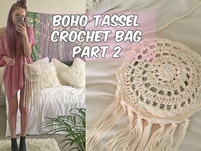 DIY BOHO TASSEL CROCHET BAG PART 2