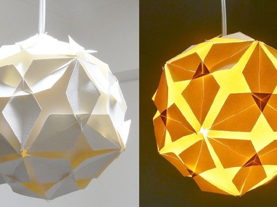 DIY lamp (diamond ball) - how to make a lampshade.lantern from puzzle units - EzyCraft