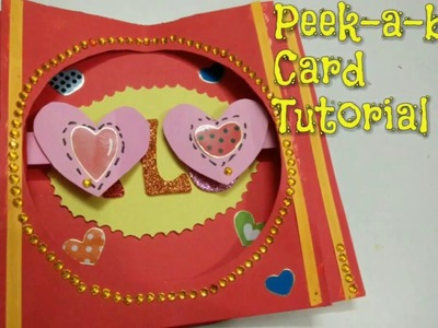 DIY Peek a boo Card Tutorial for Valentine's day | How To | Craftlas