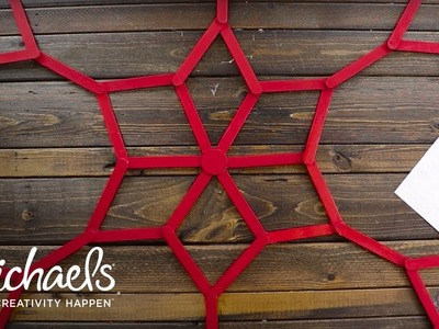 Holiday Wall Decor | How to Make a Popsicle Stick Snowflake  | Michaels