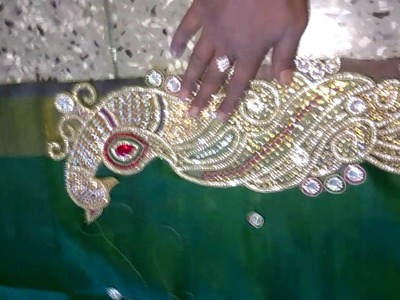 How to design saree in kudans at home in simply way