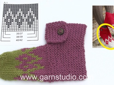 How to knit the slippers for Christmas in DROPS Extra 0-1342