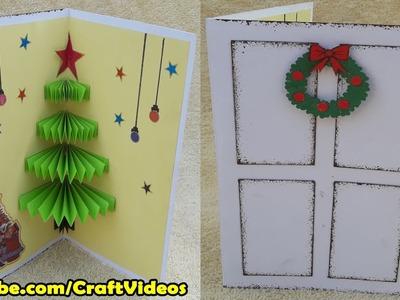 How to make 3D Christmas Pop Up Card | Handmade Pop Up cards