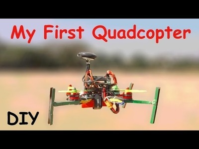 How to Make a QUADCOPTER with MOTOR at HOME that flies easy