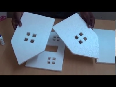 How to Make a Small Thermocol House Model  Craft Ideas for Kids HIGH