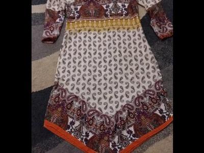 How to make designing kameez front and back cone  kameez in bangla
