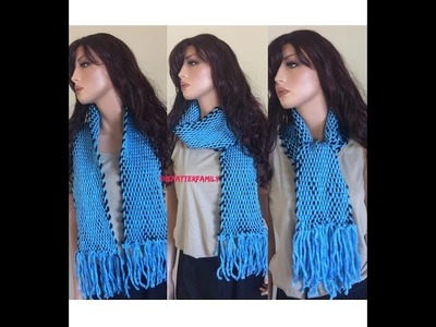 How to Weave a Scarf on a Cardboard Pattern #63│by ThePatterfamily