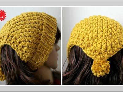 LOOM KNITTING Headband Scarf - Ear warmer Hat on a round loom