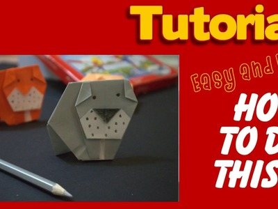 Origami dog - how to make a simple origami dog  bull dog ( HD )