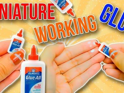 REAL Miniature School Glue Tutorial ~ WORKING School Supplies DIY | No polymer Clay.