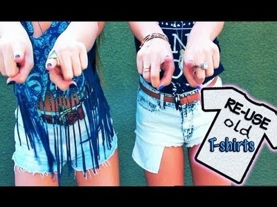 9 Ways to Upcycle and Recycle Old T-Shirts and Clothes | DIY (daily life hacks)