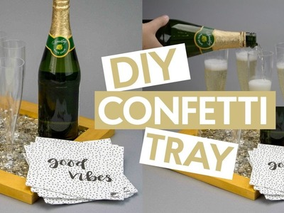 DIY CONFETTI TRAY | NEW YEARS DIY DECOR
