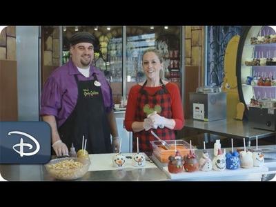 DIY Holiday: How-To Make an Olaf-Inspired Candy Apple | Walt Disney World