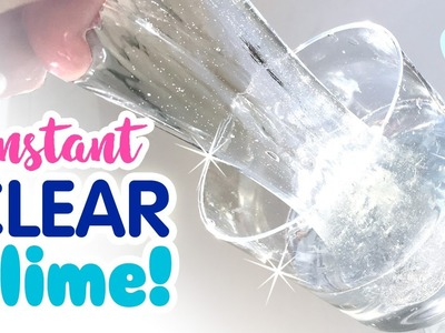 DIY INSTANT CLEAR SLIME!!! No Waiting For Bubbles! No Borax, No Detergent!